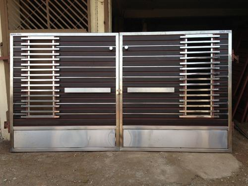 Wooden and steel gates steel gate manufacturer from jalandhar for Wooden main gate design for home