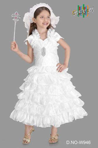 2fb8a9cd649 Kids Sleeveless White Fairy Gown