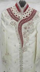 Stitched Raw Silk Groom Sherwani