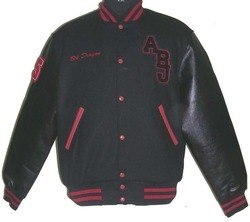 Solid Black Varsity Jacket