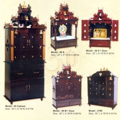 Divine Home Modular Pooja Room Cabinet - Floor Care System ...