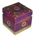 Brass Painted Wood Box