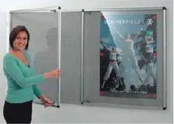 Acrylic Door Covered Notice Board ( Landscape)