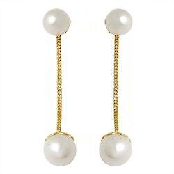 Sea Water Pearl Hanging Earrings