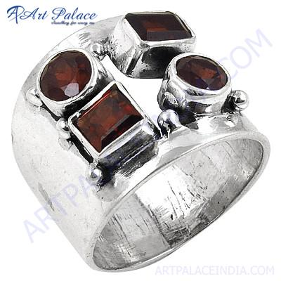 Gorgeous Garnet in Sterling Silver Ring