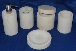 marble bathroom accessory set