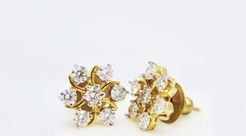 Flower Design Diamond Earrings Mehra Jewels Co
