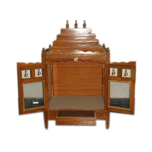 Wooden Pooja Cabinet, Lakdi Ke Mandir - Sri Anu Furniture ...