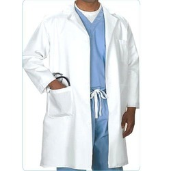 Cotton Collar Doctors Apron, for Hospital, Size: Various Size