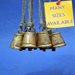 Small Round Cone Shaped Rustic Cow Bell - Customized Sizes