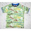 Printed Casual Wear Boys Round Neck T-shirts
