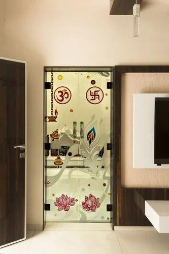 Designed Temple Door Shree Rangkala Glass Design Manufacturer In