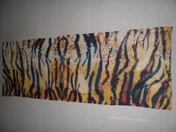 Tiger Print Silk Pashmina Stole