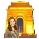 Golden India Gate Wooden Cutouts