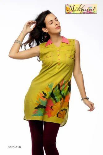 Designer Women Apparel Kurti Tunic Western Style Classic Top Tunic Kurti Blouse Manufacturer From Mumbai