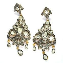 Pave Diamond 925 Sterling Silver Earring