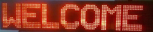 Rectangle Red Moving Message Display