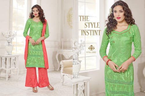7120fed124f4 Designer Palazzo Suit at Rs 1100  piece(s)