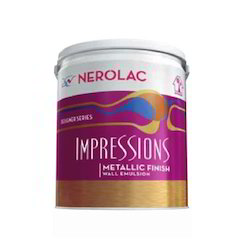 Gloss Nerolac Metallic Finish Emulsion Paints, Packaging Size: 10 Liter, Packaging Type: Bucket