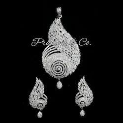 American Diamond Stone Pendants Sets