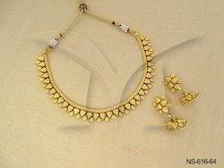 Golden Leaf Designer Necklace