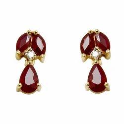 Small Drop Ruby Earrings