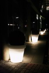 Led Illuminated Pots