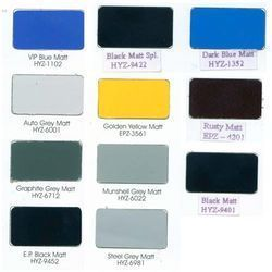 Matt Finish Powder Coating Shades