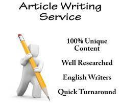 Creative Writing articles writing services