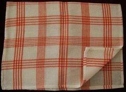 Cotton White Checked Dish Cloths