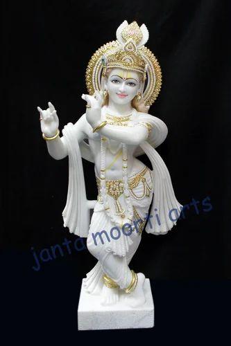 Janta Moorti Art White Marble Krishna Statue Rs 15000 Piece
