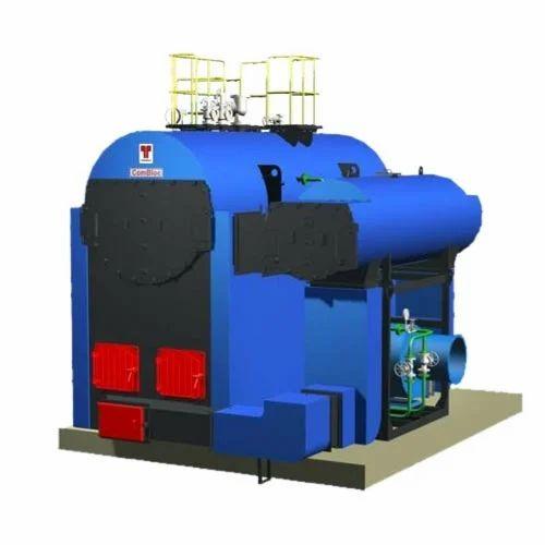 Thermax Combloc Multi Fuel IBR Steam Boiler 2/3/4/5/6 TPH Coal Wood ...