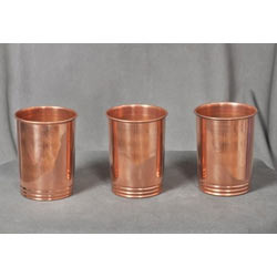 Pure Copper Water Storage Drinking Glass Tumblers Serving