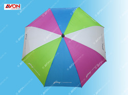 Blue and White Golf Umbrella