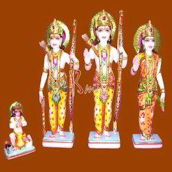 Marble Ram & Sita Statue