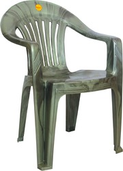 High Back Striped Plastic Chairs