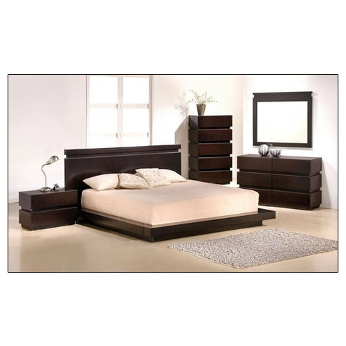 Low Floor Wooden Bed