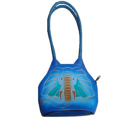 Leather Small Hand Bag Elephant ammilion Shopper, For Daily Use, Gender: Women