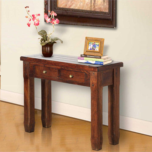 Console Tables Goa Solid Wood Table Manufacturer From Noida - Solid Oak Console Table With Storage