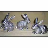 Aluminum Rabbit Sculpture