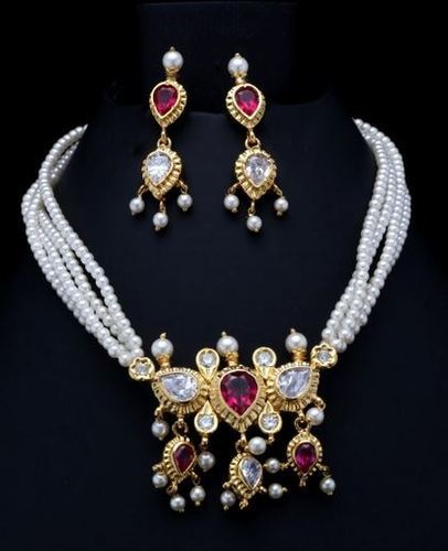 Tanmani At Rs 4100 Pearl Necklace Set Id 7276984312