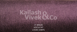 21 Wale Lycra Corduroy Suiting Fabric