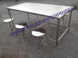 SS Dining Table 6 Seater