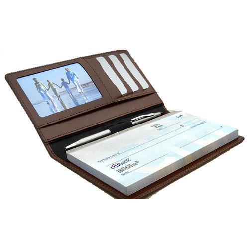 Leather Products Leather Cheque Book Holder Manufacturer