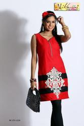 Red Tunic Kurti Party Wear