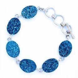 Blue Duryz Gemstone Silver Bracelet