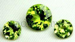 Peridot Faceted Round Cut Gemstone