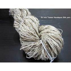 ERI Mix Tussar Handspun Silk Yarn