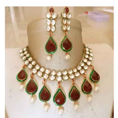 Indian Kundan Bridal Jewellery Set22k Gold Plated Teenas
