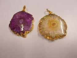Colored Agate Stone Pendant
